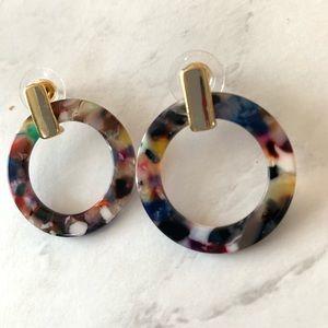 Natasha round hoop earrings